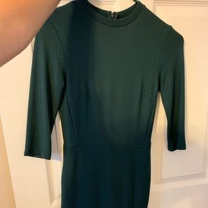 Top shot fitted forest green dress size 2